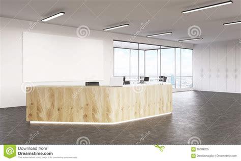 big white boards empty reception stock illustration image 69594205