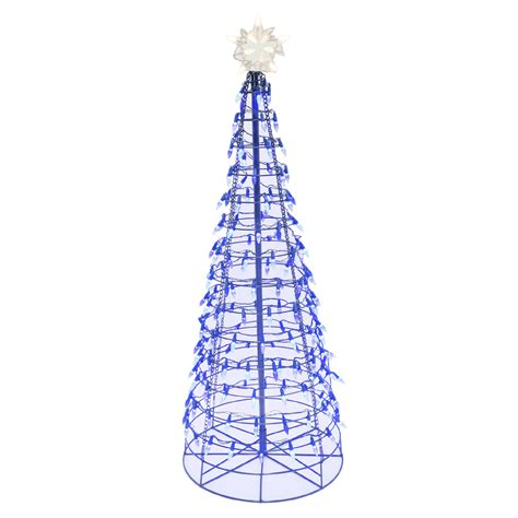 energy best 4 170 blue led light metal christmas tree