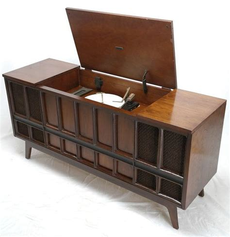 zenith record player cabinet mid century modern zenith stereo record player console