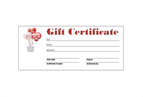 gift card templates free pdf 9 gift certificate templates free sle