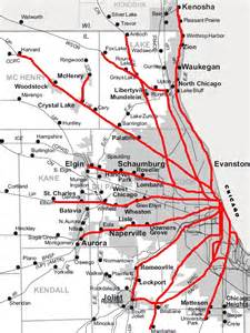 Map Of Chicago Metra by Chicago Area Shortline Railroads Metra Nirc