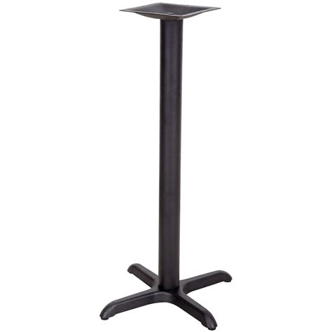 black sted steel bar height cross table base osbb