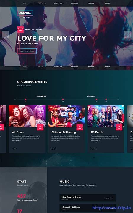 theme wordpress jarvis 25 best night club wordpress themes 2018 frip in