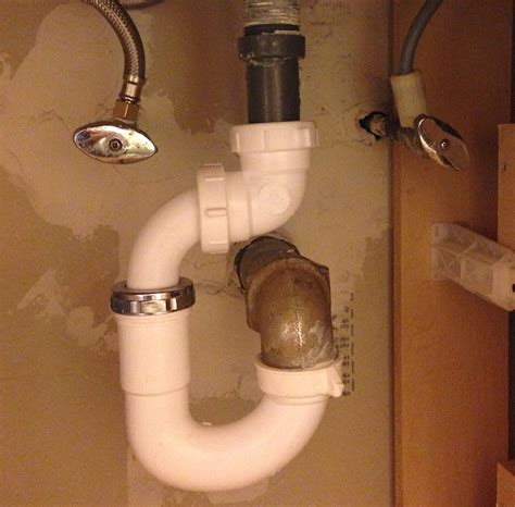 bathroom sink tailpiece plumbing sink tailpiece doesn39t line up with trap home