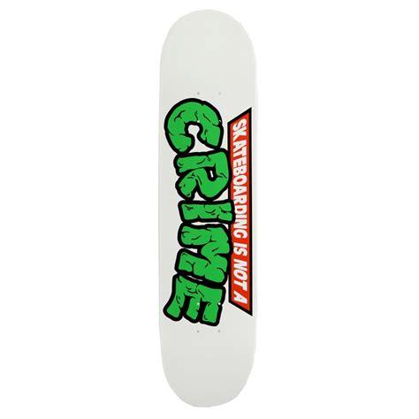 skat deck crime mutant white skateboard deck evo outlet