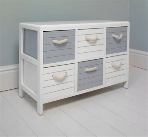 Nautical Bathroom Storage Shabby Chic Furniture French Style Home Accessories