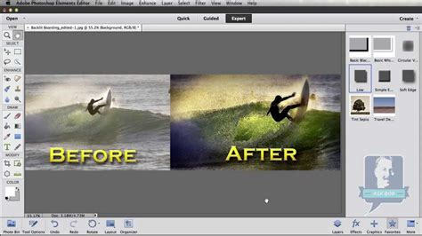 Lighting Tips photoshop elements creating quot before amp after quot images