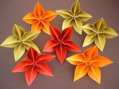 Origami Carambola Flowers - origami carambola sprung origami flowers
