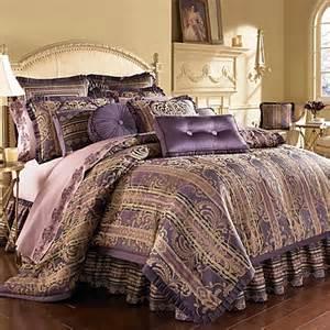 j queen palazzo purple california king comforter set