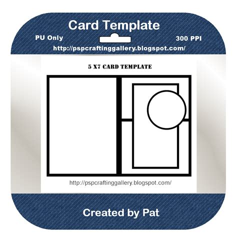 psp pro card templates psp crafting gallery card template