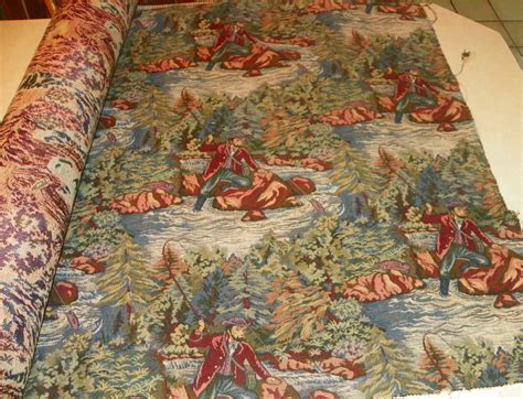 where to buy fabric for upholstery fly fishing print tapestry upholstery fabric 1 yard r365