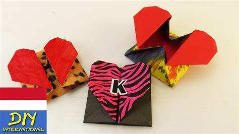 membuat origami hati membuat origami box bentuk hati lop atau pembatas