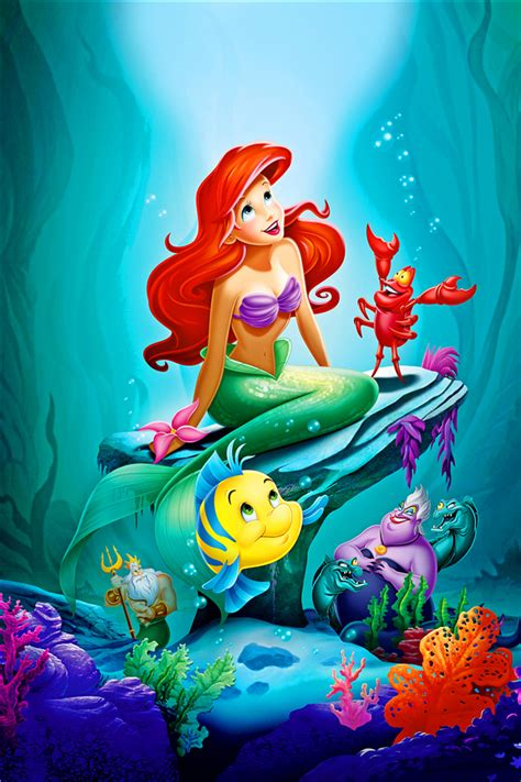 Home Wall Mural canvas art the little mermaid poster little mermaid