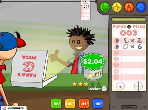 games membuat pizza online papa s pizzeria