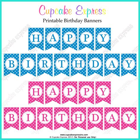 happy birthday banners templates free printable happy birthday banner templates health