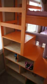 bunk bed with stairs white simple bunk bed with a twist and cubby
