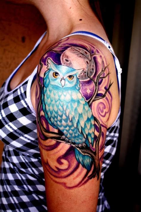 realistic mermaid tattoo owl sleeves on owl sleeve tattoos