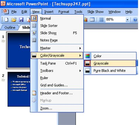 print a presentation in grayscale ~ microsoft office support