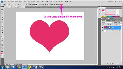 cara membuat quotes di photoshop 1 cara membuat gambar love di photoshop