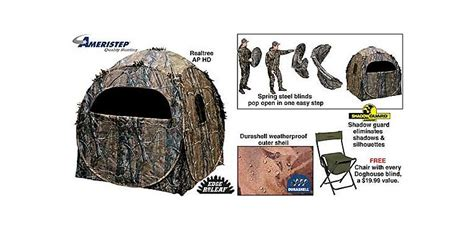 ameristep dog house blind ameristep 174 doghouse blind cabela s