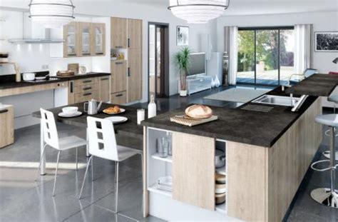 cuisine ouverte avec verri鑽e cuisines avec ilot central sur mesure cuisines you