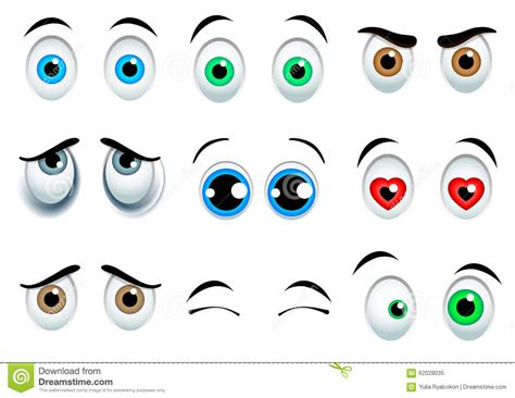 clipart occhi yeux de dessin anim 233 r 233 gl 233 s illustration de vecteur