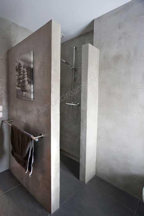dusche wand mooi inspiratie beeld voor onze betonlook wand