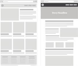 Layout Online standard magazine style layout used for long form storytelling