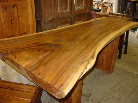 Unfinished Furniture Kitchen Island live edge slabs teakology
