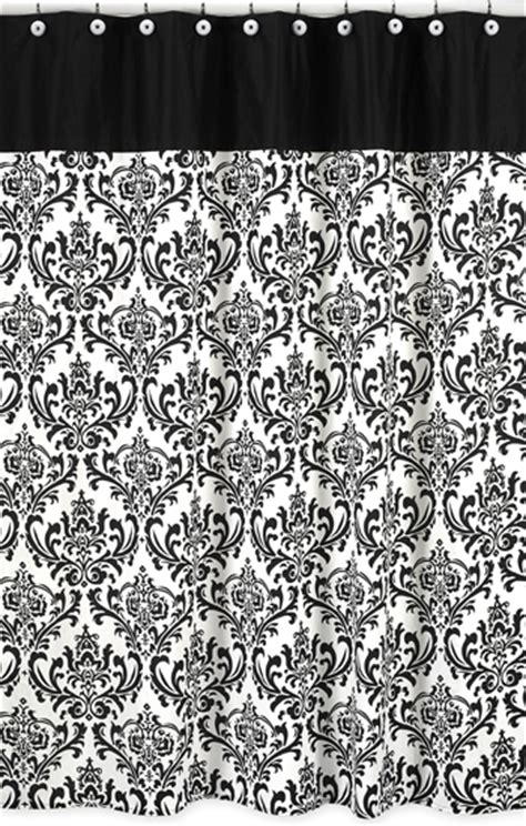 Black And White Curtains For Sale Black White Damask Fabric Shower Curtain Designer