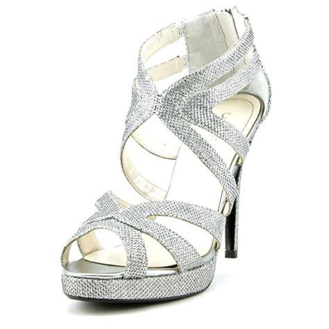 dress sandals for caparros caparros priscilla womens textile silver dress