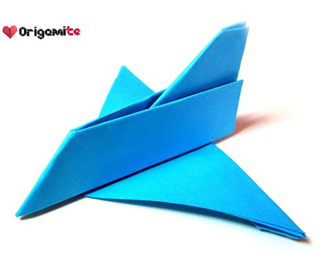 How To Make Origami Jet - easy origami airplane all