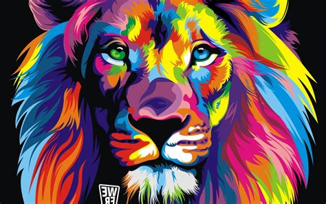 colorful graphic wallpaper wallpaper colorful illustration abstract tiger lion