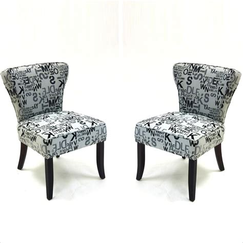Patterned Accent Chair Baxton Studio Forte And Black Patterned Fabric Accent Chair