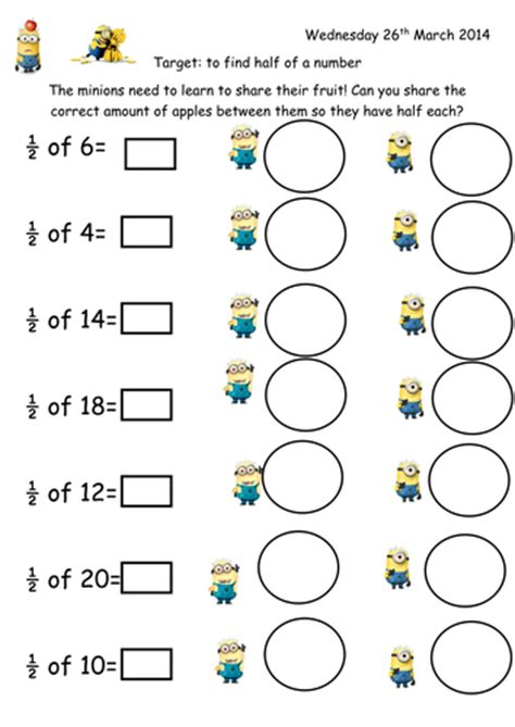 Minions Worksheets
