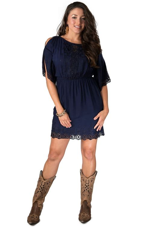 Arin Mini Maxi angie s navy lace cold shoulder 3 4 sleeve dress s skirts and dresses