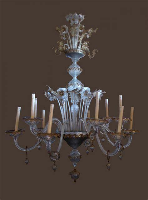 verre lustre important lustre en verre de murano philippe cote antiquites