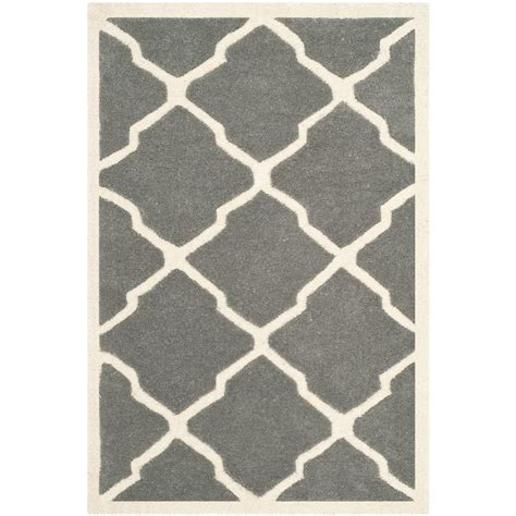 Safavieh Grey Rug Safavieh Chatham Grey Ivory 2 Ft X 3 Ft Area Rug Cht735d 2 The Home Depot
