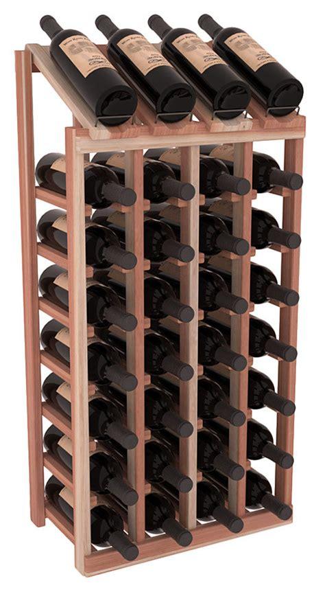 Handmade Wooden Wine Racks - handmade wooden 32 bottle display view wine rack kit in