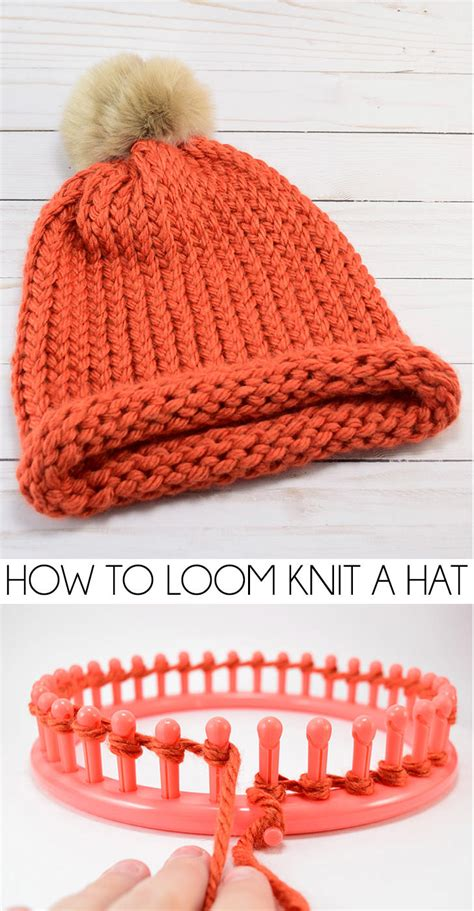how to knit a hat how to loom knit a cap e wrap method a bigger