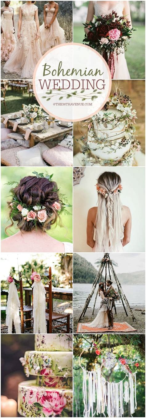bohemian wedding ideas diy boho chic wedding the 36th avenue favorites trendy wedding
