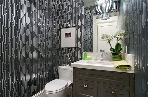 Modern Bathroom Wallpaper Gorgeous Wallpaper Ideas For Your Modern Bathroom