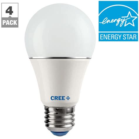 Cree Dimmable Led Light Bulbs Cree 60w Equivalent Soft White 2700k A19 Dimmable Led Light Bulb 4 Pack Sa19 08127mdfd