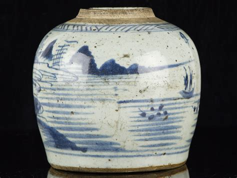 what is a ginger jar c1630 late ming chinese blue and white stoneware ginger