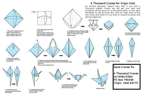 Step By Step Crane Origami - a house named anthem and thoughts in zion