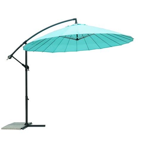 8 Foot Patio Umbrella Sunjoy 9 8 Ft Steel Cantilever Patio Umbrella In Blue 110211002 The Home Depot