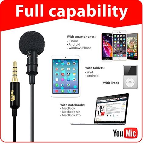 Microphone Clip On Audio System Rekording lavalier lapel microphone with easy clip on system for professional recording