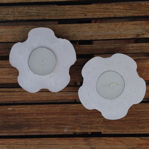 plaster of crafts flower shaped plaster candle holder my kid craft