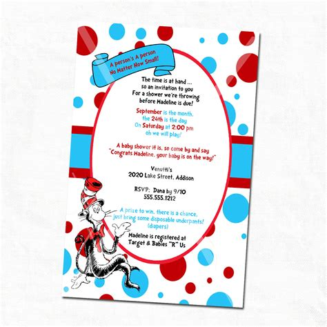 free dr seuss invitation templates baby shower invitations custom dr seuss baby shower