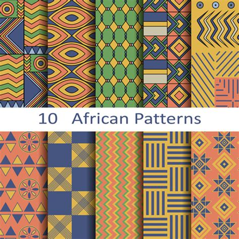 African Pattern Vector Download Free | vector african style seamless patterns vector pattern